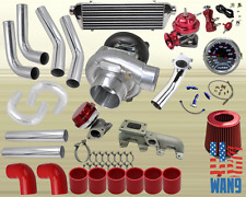95-02 Chevy S10 Cavalier T3/T4 Turbocharger Turbo Kit Red+Manifold+Bov+Wg+Gauge