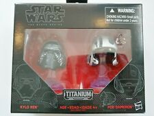 Star Wars Black Series KYLO REN & POE DAMERON #01 Titanium Series Mini Helmets