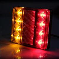 2x 12V 8 LED Rear Queue Lampe Feux Arrière Lumières Camion Voiture Remorque Neuf