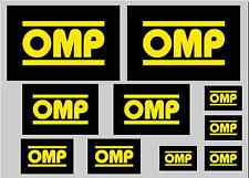 OMP STICKER SET - SHEET OF 10 STICKERS - DECALS
