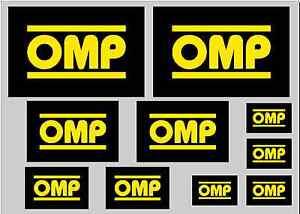 OMP STICKER SET - SHEET OF 10 STICKERS - DECALS
