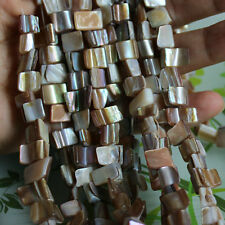 10-12mm Natural Shell MOP Freeform T V Shape DIY Gemstone Loose Beads Strand 15""