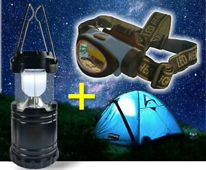 LED Campinglampe+Kopflampe,Laterne,Headlamp,Stirnleuchte,3W