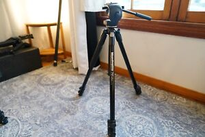 MANFROTTO 290 XTRA ALUMINUM 3-SECTION TRIPOD WITH 128 RC HEAD