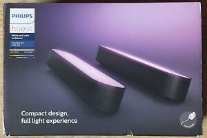Philips Hue Play White and Colour Smart Light Bars 2 x Lighting Black New Unused