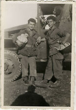 PHOTO ANCIENNE - VINTAGE SNAPSHOT - MILITAIRE CAMION CASQUE - MILITARY TRUCK 2