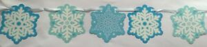 Snowflake Cut Out 7ft Banner Christmas Garland Winter Decorations Party