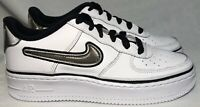 Nike AF1 White Silver Shoes Hologram AR0734-100 Size 4Y, Womens Size 5.5