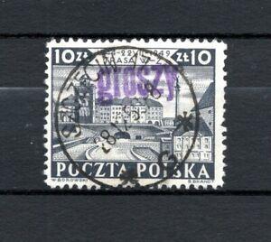 """PL Polen 1950 Mi.-Nr. 633 Aufdruck """"GROSZY"""" auf 530 gestempelt o"""