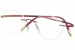Silhouette Eyeglasses Essence 5523 3040 Red Rimless Chassis Optical Frame 19X145