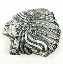 Navajo Chief Style American Red Indian Belt Buckle Exeter Chiefs Rugby Biker