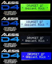 ALESIS LCD DISPLAY - D4 DRUM MODULE - 4 COLOR CHOICES - D-4 REPLACEMENT SCREEN