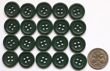 20 x 15MM RIDGED MATCHING BUTTONS - BOTTLE GREEN SHADES - Sewing - Scrapbooking