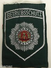 DDR East German Betriebsschutz Factory Police Patch - Original