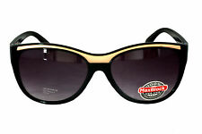 FOSTER GRANT fg28 Mujer Redondo Rectangular Negro Plástico Gafas De Sol Cat 3