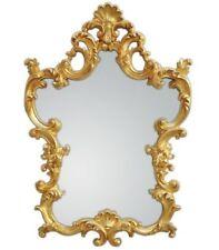 Specchi ovali per la decorazione della casa oro legno