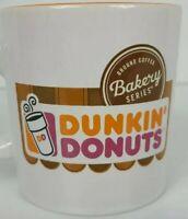 Dunkin' Donuts Bakery Series Ceramic Coffee Mug Cup Orange White