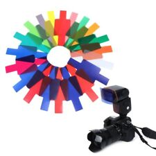 20 Color Photographic Color Gel Filter Cards Set Flash Speedlite for Canon Nikon