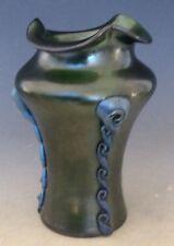 Kralik Art Nouveau Green Iridescent Glass Vase circa 1900 RIGAREE