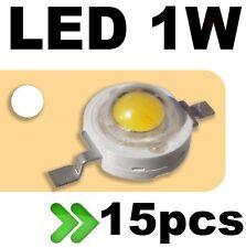 531/15# LED 1W Blanc pur --- 15pcs