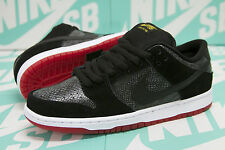 "Nike SB Dunk Low Premium ""SNAKE EYES"" Black Snakeskin Red 313170 017 DS SZ 6"