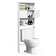 Bathroom Wood Organizer Shelf Over-the-toilet Storage Rack W/Cabinet Spacesaver