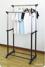 DOUBLE POLE TELESCOPIC CLOTH DRYING STAND RACK-I