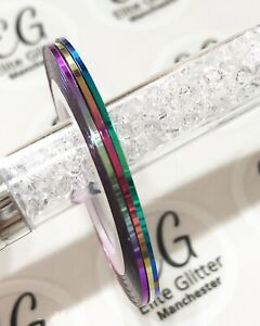 Nail Art 3pc Chameleon Set Sticky Striping Tape1mm Blue Purple Red