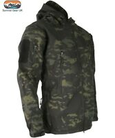 Kombat Patriot Tactical MT Black Soft Shell Shark Skin Hooded Jacket Airsoft