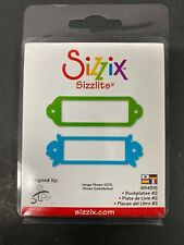 New  Sizzix Sizzlits  Book Plates #2 Embosslits Die 654515 Cuts & Embosses