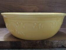 """New listing Vintage (1930's) Homer Laughlin Oven Serve Yellow Mixing Bowl 8 1/2"""""""