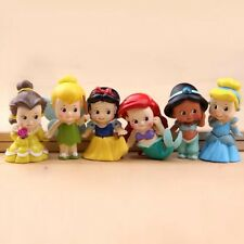 6pcs Disney Principessa MINI BAMBOLE RESINA PERSONAGGIO figure toy miniatura