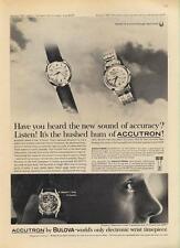 1962 Bulova PRINT AD Accutron Watch Mens Model 542 and 209