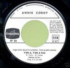 ANNIE CORDY 45 TOURS FRANCE PROMO Y'EN A Y'EN A PAS
