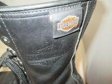 "VINTAGE women's HARLEY DAVIDSON Leather Boots LACE ZIP UP  size 7, 9"" tall"