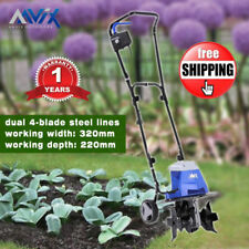 Aavix Electric Powerful Tiller Rotary Hoe Garden Cultivator Lightweight