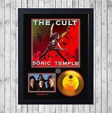 THE CULT SONIC TEMPLE CUADRO CON GOLD O PLATINUM CD EDICION LIMITADA. FRAMED