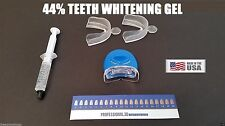 Teeth Whitening 44% Carbamide Peroxide Bleaching Kit With Light & Mouth Guard