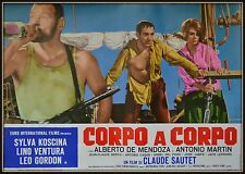 fotobusta CORPO A CORPO SYLVA KOSCINA LEO GORDON  LINO VENTURA CLAUDE SAUTET