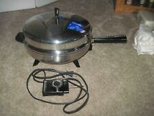 Vintage FARBERWARE Electric Fry Pan Skillet Model 310B DOME LID Works Perfectly