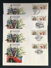 1986 Grand Prix Race Day  Set of 4 Daily Covers 150Th Ann Of SA. Pair
