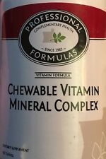 CHEWABLE VITAMIN MINERAL COMPLEX PROFESSIONAL FORMULAS FOLIC ACID BIOTIN A B C D