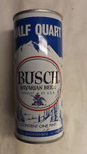 Vintage Busch Bavarian Half Quart Oklahoma Beer Can Steel abc