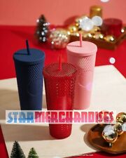 2020 Starbucks SINGAPORE Studded Matte Tumbler Cold Cup Venti 24oz Pink Blue Red