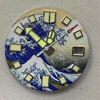 Für NH35/NH35A Uhrwerk Zifferblatt Full Luminous Watch Dial 28.5MM Surfing Dial