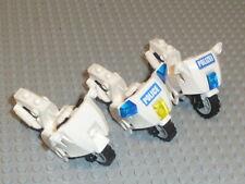 LEGO® City 3x Motorrad Polizei weiß für Figuren aus Set 7325 7237 F2471