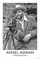 "13""×19"" Decorative Art Poster ANSEL ADAMS The Famous Photographer Black & White"
