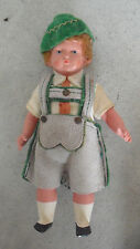 """Vintage 1930s Jointed Celluloid Ethnic Boy Character Doll 5"""" Tall"""