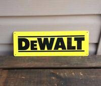 DEWALT Logo Power Tool Metal SIGN Cordless Drill Work shop Garage 4x12 50081