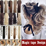 Real Natural Hairpiece Clip In As Human Hair Extension Wrap on Ponytail Blonde J
